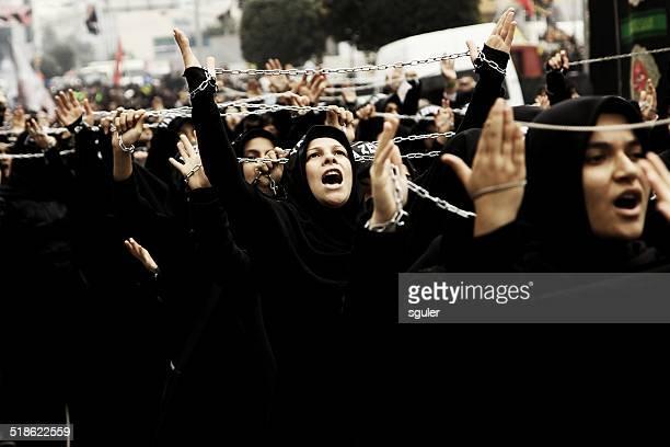 日のアシュラ祭(追悼日) - iranian culture ストックフォトと画像