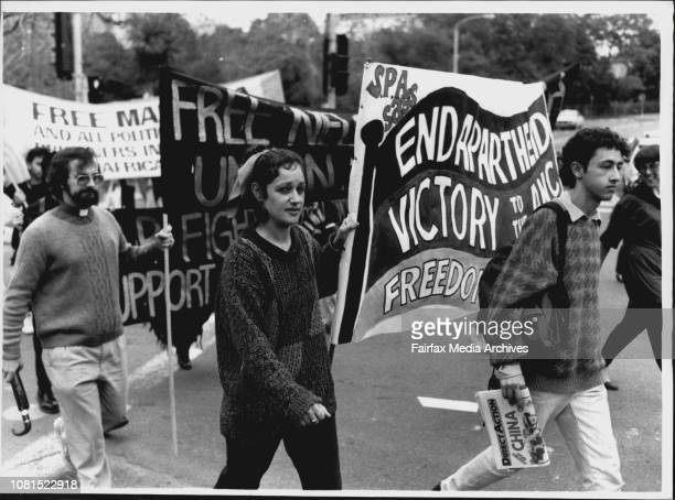 Day Of Demonstrations In The City Antiapartheid demo from Belmore Park to Martin Place June 17 1989