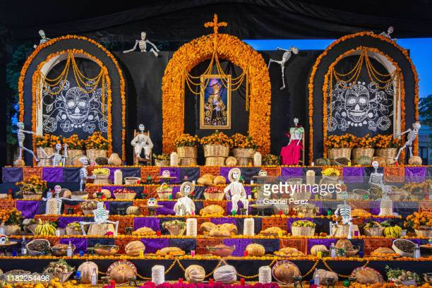 a day of the dead altar in mexico - mort concepts photos et images de collection
