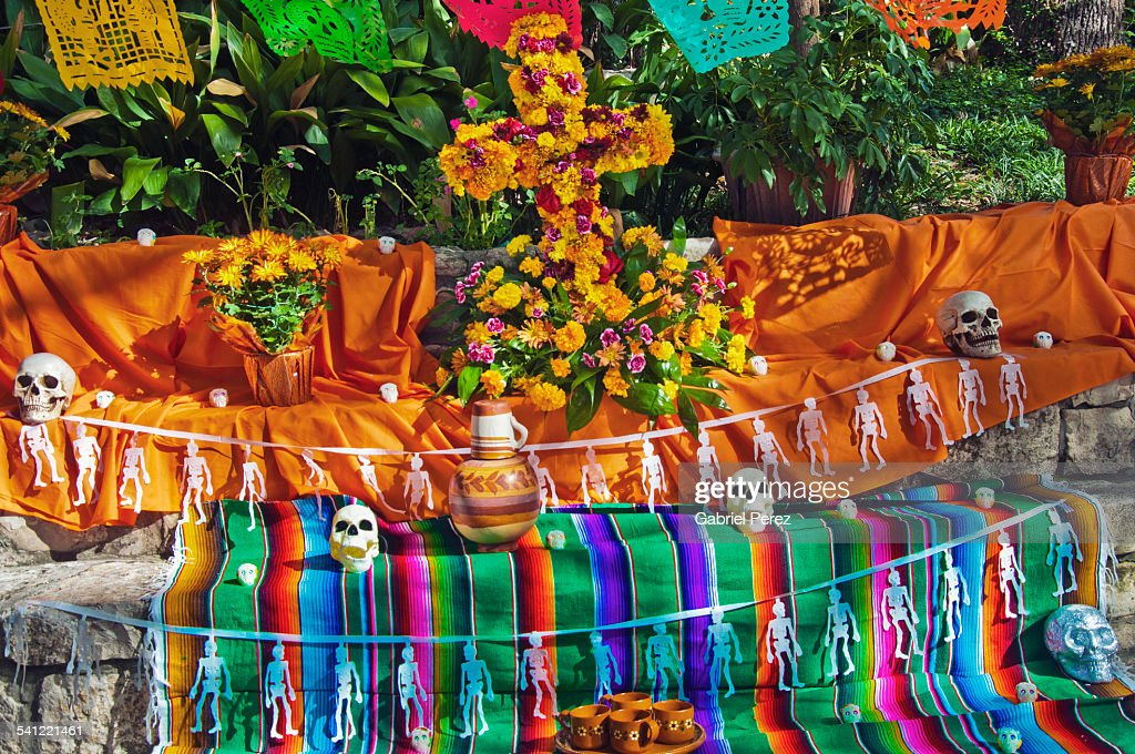 Day Of The Dead And Mexican Folk Art Stock Photo