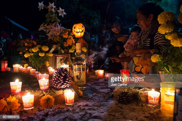 Day of the Dead - cemetery in Oaxaca, Mexico