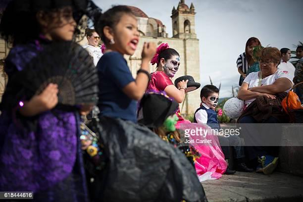 Tag der Toten Maske in Oaxaca, Mexiko