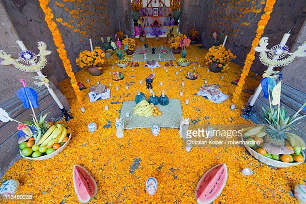 Day of the Dead decorations, Palacio de Gobeierno, Morelia, Michoacan state, Mexico, North America
