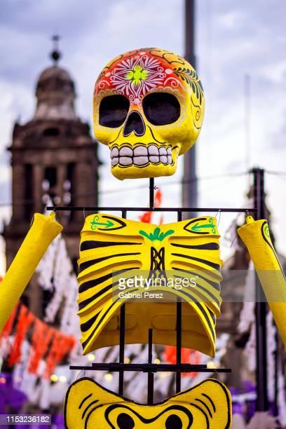 day of the dead in mexico city - day of the dead fotografías e imágenes de stock