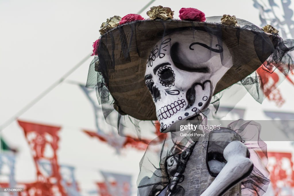 Day of the Dead in Mexico City : Stock Photo