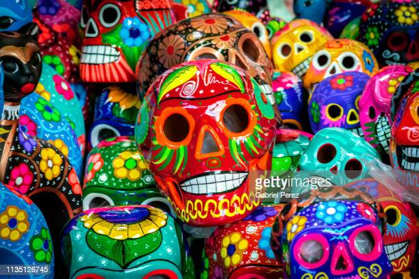 day of the dead in mexico - mexican poster stock photos and pictures