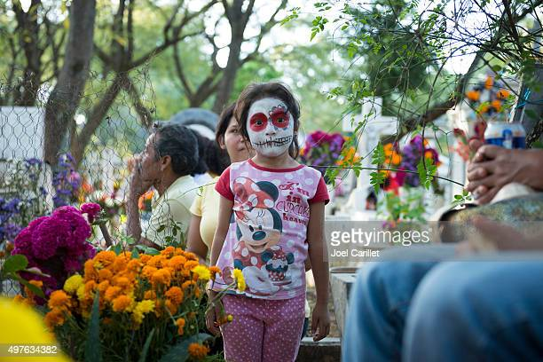 day of the dead in oaxaca, mexico - dead girl stock pictures, royalty-free photos & images