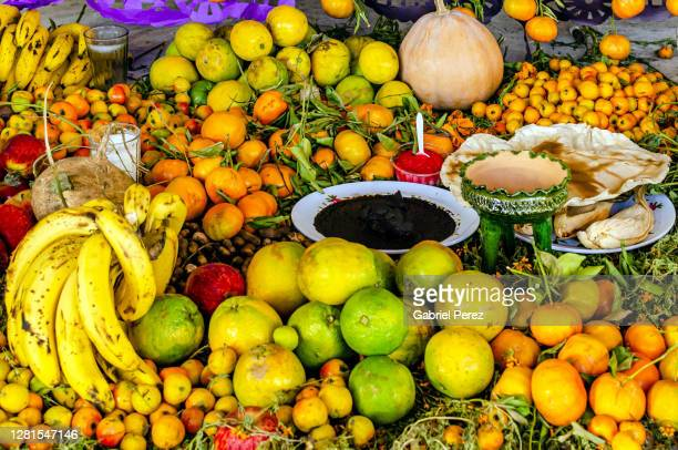 a day of the dead offering from oaxaca de juarez - mole sauce stock pictures, royalty-free photos & images