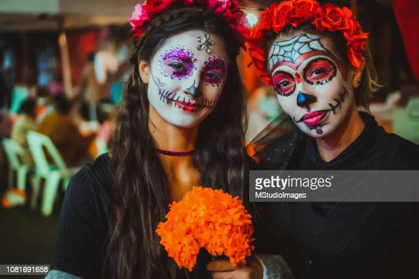 day of the dead. - period costume stock pictures, royalty-free photos & images