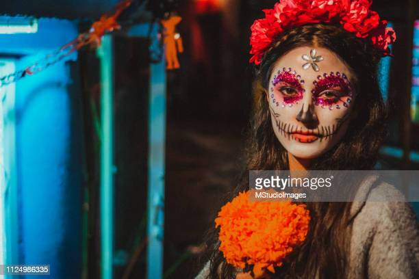 dia de los muertos - day of the dead festival stock photos and pictures