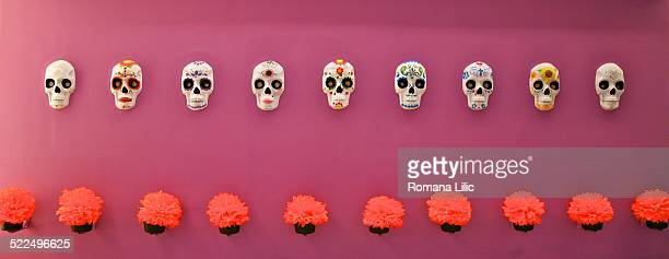 day of the dead  - sugar skull stock photos and pictures