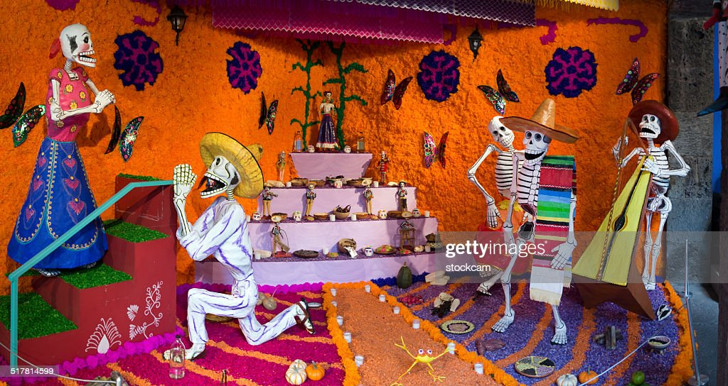 Day of the Dead skeletons in Mexico : Stock Photo