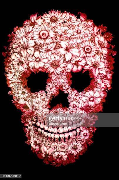 a day of the dead skull from oaxaca city -  キリスト教 伝来の地  ストックフォトと画像