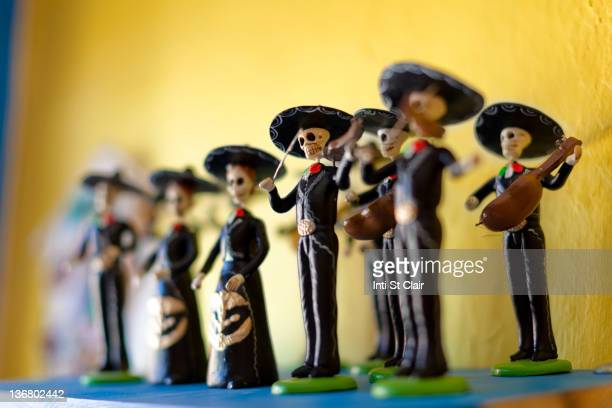 day of the dead statuettes - all souls day stock photos and pictures