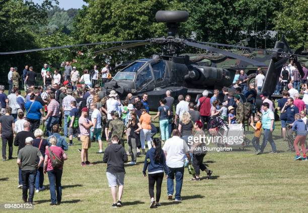 Day of the Federal Army in the General Field Marshal Rommel barracks in Augustdorf Open day for the population The combat helicopter Apache