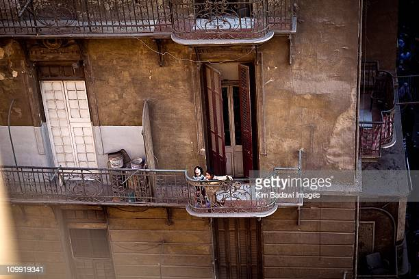 Day of the Matrys on Tahrir Square on February 7 2011 in downtown Cairo EgyptStreets and rooftops crowded as Yusuf alQaradawi a leading Egyptian...