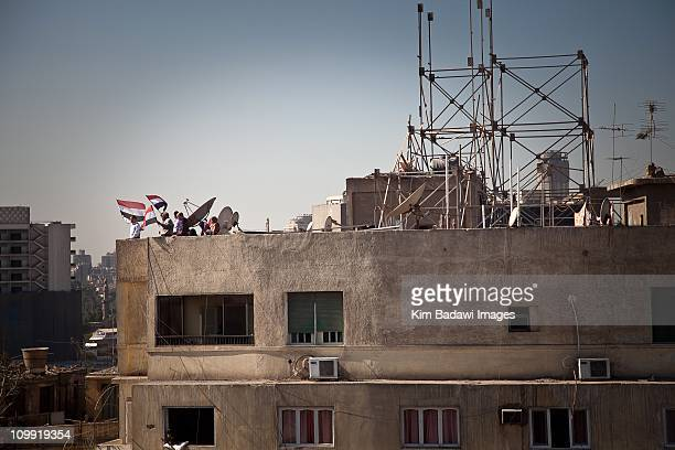 Day of the Matrys on Tahrir Square on February 7 2011 in downtown Cairo Egypt Streets and rooftops crowded as Yusuf alQaradawi a leading Egyptian...