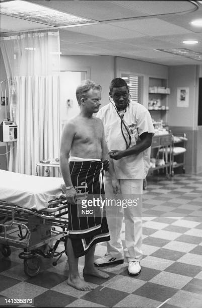 ER 'Day One' Episode 2 Air Date Pictured Kristopher Logan as Lobster Man Deezer D as Nurse Malik McGrath Photo by Paul Drinkwater/NBCU Photo Bank