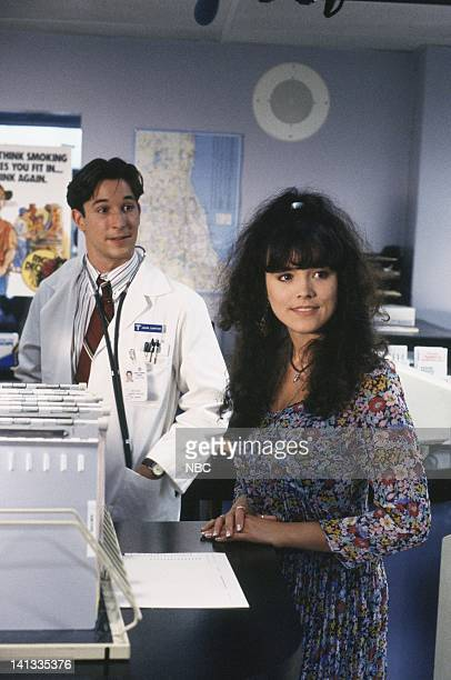 ER Day One Episode 2 Air Date Pictured Noah Wyle as Doctor John Carter Liz Vassey as Liz Photo by Paul Drinkwater/NBCU Photo Bank