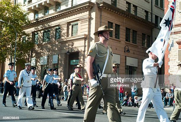 anzac day parade - army stock pictures, royalty-free photos & images