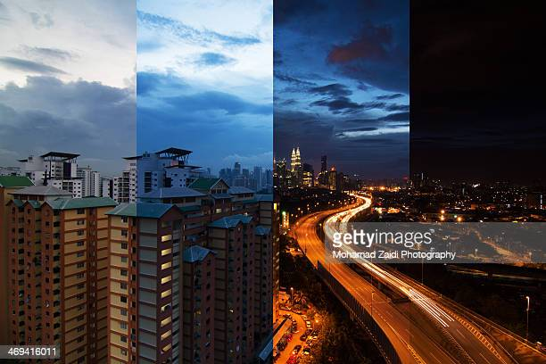 day to night, kuala lumpur - day stock pictures, royalty-free photos & images