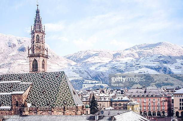 Day view of Bozen after snow