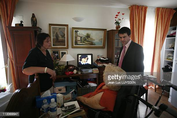 Day With Manuel Valls, Socialist Deputy Mayor Of Evry And Candidate For The First Secretary Of The Socialist Party Position In Evry, France On May...