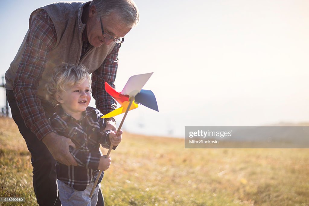 Day with my Grandpa : Stock Photo