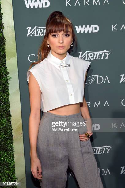 Daya attends the Runway To Red Carpet hosted by Council of Fashion Designers of America Variety and WWD at Chateau Marmont on February 20 2018 in Los...