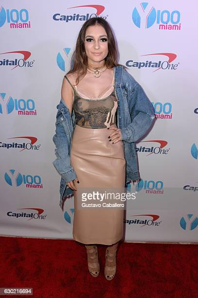 Daya attends the Y100's Jingle Ball 2016 PRESS ROOM at BBT Center on December 18 2016 in Sunrise Florida