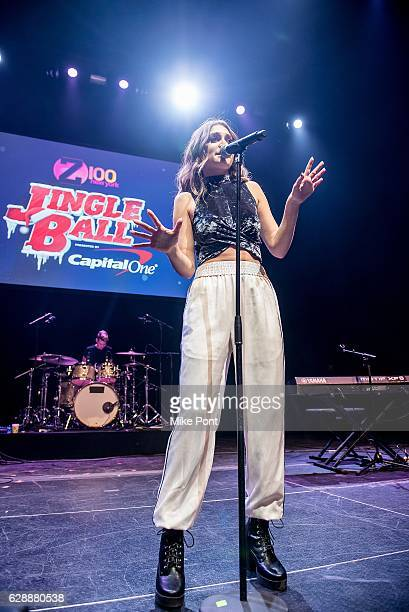 Daya performs during the 2016 Z100 Jingle Ball Pre Show at Hammerstein Ballroom on December 9 2016 in New York City