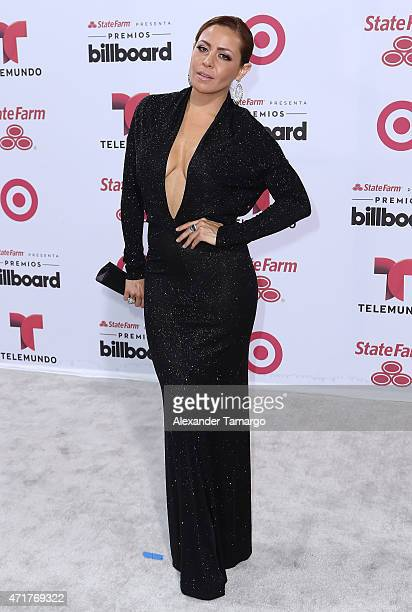 Dayana Garroz arrives at 2015 Billboard Latin Music Awards presented by State Farm on Telemundo at Bank United Center on April 30 2015 in Miami...