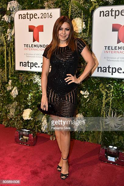 Dayana Garroz attends Telemundo NATPE party on January 19 2016 in Miami Beach Florida