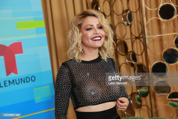 Dayana Garroz poses at the 2018 Latin American Music Awards Press Room at Dolby Theatre on October 25 2018 in Hollywood California