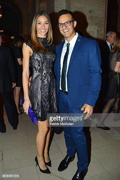 Dayana Mendoza and Antonio Vieira attend David Monn Launches 'The Art of Celebrating' at New York Public Library on November 14 2016 in New York City