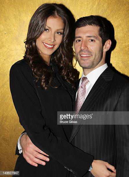 Dayana Mendoza and boyfriend Michael Pagano pose as she promotes 'The Celebrity Apprentice' at Planet Hollywood Times Square on April 27 2012 in New...