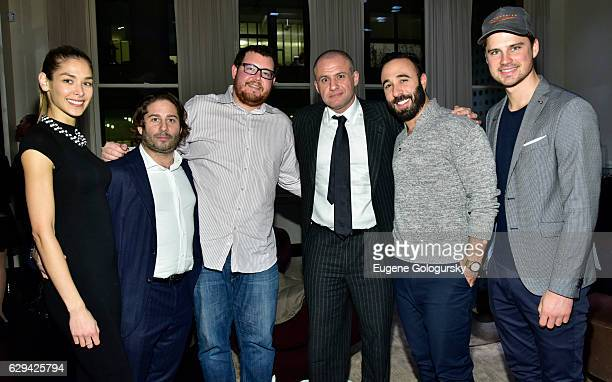 Dayana Mendoza, Mike Heller, Jeff Zalazniak, Ronn Torossian, Rob Ronen, and Veit Couturier attend the JetSmarter x Material Good VIP Event Hosted By...