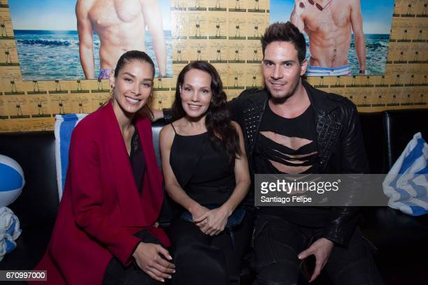 Dayana Mendoza Milena Chavez and Julio Gaggia attend Logo TV Fire Island Premiere Party at Atlas Social Club on April 20 2017 in New York City