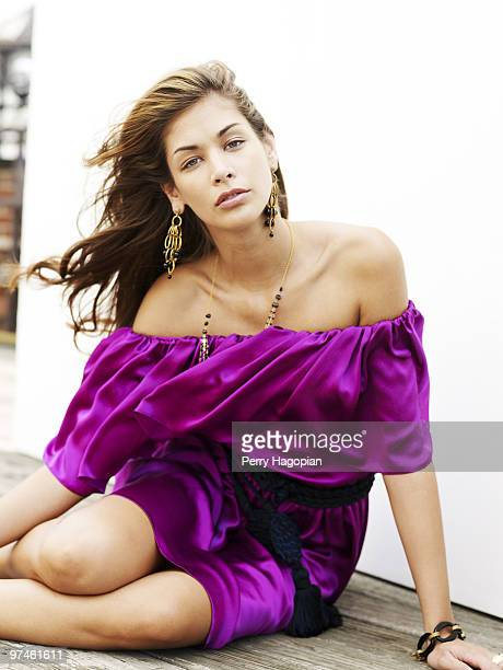 Dayana Mendoza Miss Universe 2008 poses at a portrait session in 2008 for People en Espanol