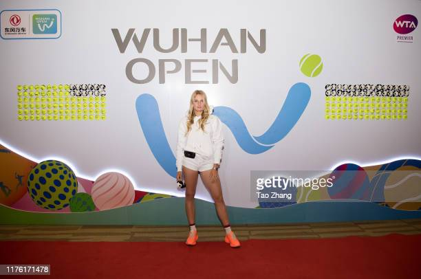 Dayana Yastremska attends a official player party at Hilton hotel on September 21, 2019 in Wuhan, China.