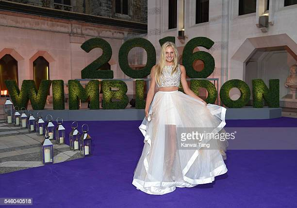 Dayana Yastremska attends the Wimbledon Winners Ball at The Guildhall on July 10 2016 in London England