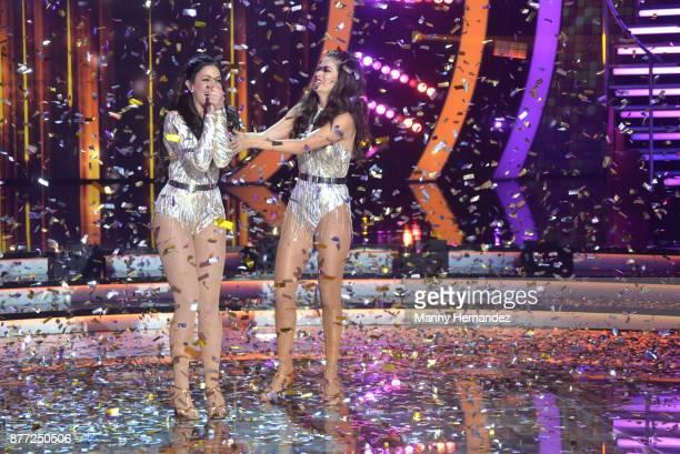 Dayanara Torres and Ana Patricia at Mira Quien Baila Finals at Univision Studios on November 19 2017 in Miami FL