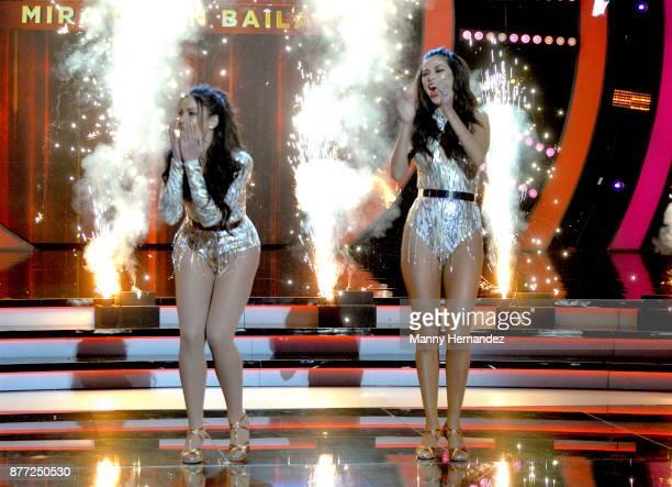 Dayanara Torres and Ana Patricia Gamez at Mira Quien Baila Finals at Univision Studios on November 19 2017 in Miami FL