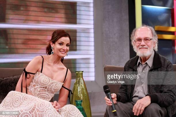 Dayanara Torres and Director of film Linda Sara appear in TV show Lo Se Todo on May 4 2017 in San Juan Puerto Rico