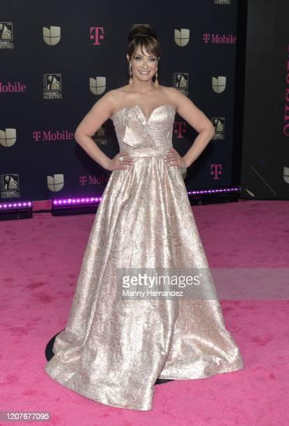 Dayanara Torres attends Univision's Premio Lo Nuestro 2020 at AmericanAirlines Arena on February 20 2020 in Miami Florida