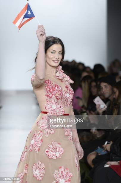 Dayanara Torres walks at Stella Nolasco Runway on February 2018 at New York Fashion Week at Pier 59 on February 8 2018 in New York City