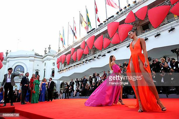 Dayane Mello and Giulia Salemi attend the premiere of 'The Young Pope' during the 73rd Venice Film Festival at Palazzo del Casino on September 3 2016...