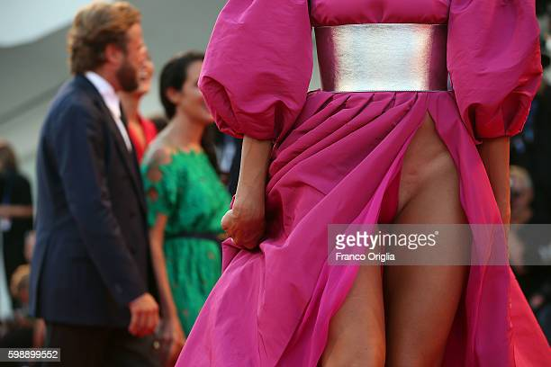 Dayane Mello dress detail attends the premiere of 'The Young Pope' during the 73rd Venice Film Festival at Palazzo del Casino on September 3 2016 in...