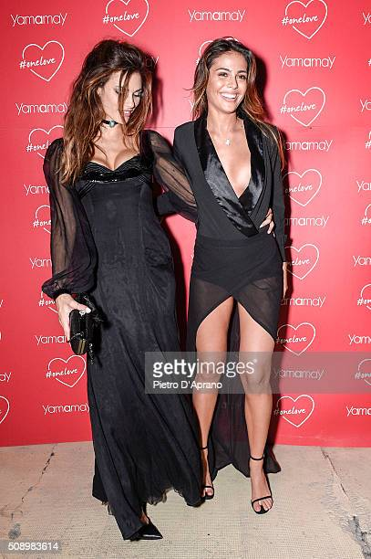 Dayane Mello Isabelle Cutrim attends Yamamay party on February 7 2016 in Milan Italy