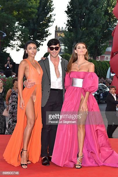 Dayane Mello Matteo Manzini and Giulia Salemi attend the premiere of 'The Young Pope' during the 73rd Venice Film Festival at Palazzo del Casino on...